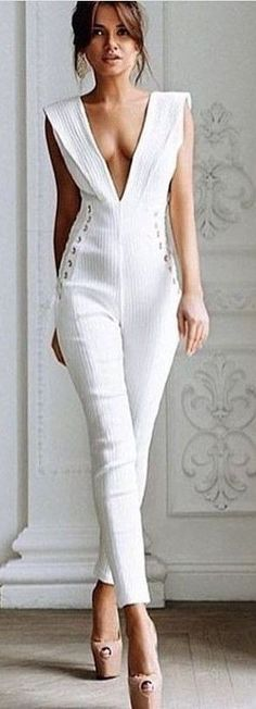 White Chic Jumpsuit                                                                             Source