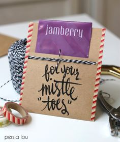 Cute nail stickers from Jamberry—tucked into the free printable gift tags available at Persia Lou—will make a perfect gift for a beauty enthusiast.