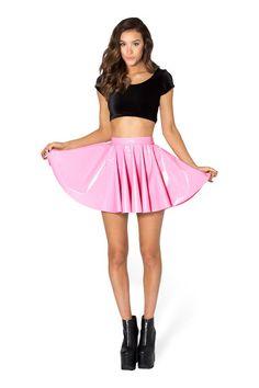PVC Princess Pink Cheerleader Skirt - LIMITED › Black Milk Clothing