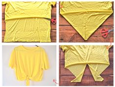 front knot tied crop top. easy!