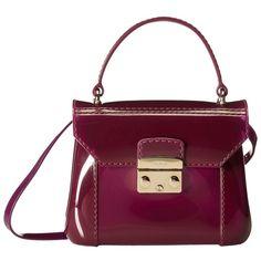 Furla Candy Bon Bon Mini Crossbody ($148) ❤ liked on Polyvore featuring bags, handbags, shoulder bags, aubergine, mini cross body purse, purple crossbody purse, crossbody purse, purple crossbody and purple purse