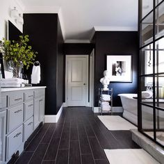 Bathroom Layout, Bathroom Interior Design, Decor Interior Design, Modern Bathroom, Small Bathroom, Subway Tile Bathrooms, Tile Layout, Bathroom Colors, Bathroom Designs