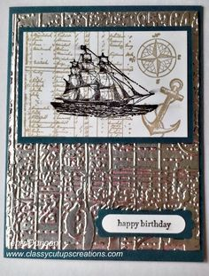 The Open Sea Stamp Set with the Aluminum Foil Technique