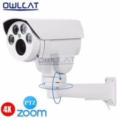 OwlCat Full HD 1080P 2MP Mini PTZ IP Camera 2.8-12mm Varifocal lens Pan/Tilt Rotation 4X Optical Auto Zoom Security CCTV Camera #Affiliate