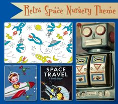 Retro Space Nursery Theme | Inspiration & Ideas Slideshow and more at the Disney Baby Blog!