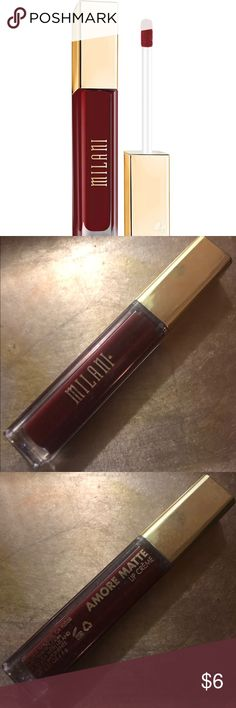 BNWT Milani Amore Matte Lip Creme Liquid Lipstick Brand New Milani Amore Matte Lip Creme Liquid Lipstick in the shade '41 - Fabulous'... only ever swatched!   Open to offers and will do automatic bundle discounts :)  P.S. Check out my closet for lots and LOTS of other shades! Milani Makeup Lipstick