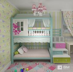 Girls Bedroom Ideas 8 Year Old Small . Girls Bedroom Ideas 8 Year Old Toddler Bunk Beds, Kid Beds, Bunk Beds For Girls Room, Toddler Rooms, Warm Bedroom, Bedroom Decor, Bedroom Ideas, Wall Decor, Bedroom Curtains