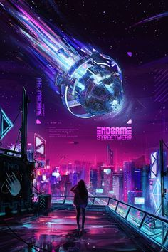 Beautiful Science Fiction, Fantasy and Horror art from all over the world. Cyberpunk City, Arte Cyberpunk, Cyberpunk Aesthetic, Futuristic City, Neon Aesthetic, Fantasy Art Landscapes, Fantasy Landscape, Scenery Wallpaper, Galaxy Wallpaper