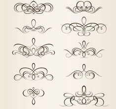 40 Swirly Curly & Floral-Based Vector Design Elements | Graphic & Web Design Inspiration + Resources