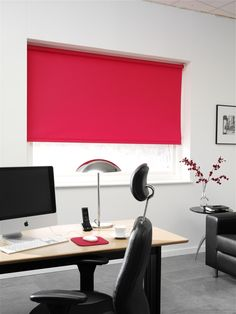 Made to measure Roller blinds for the office. These blinds are made in our Attleborough factory in a range of fabrics including fabrics to help prevent the spread of germs or fabric to help save energy costs.