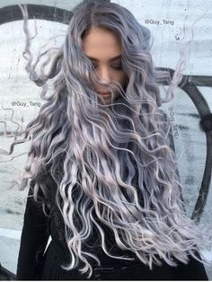 Lavender sliver hair