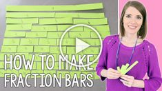 Are you wondering how to make fraction bars with students? This is the easiest way to create these fraction math manipulatives!#vestals21stcenturyclassroom #fractions #teachingfractions #teachingmath #athomelearning #mathmanipulatives #howtomakefractionbars #howtomakefractionstrips #teachingtips #math