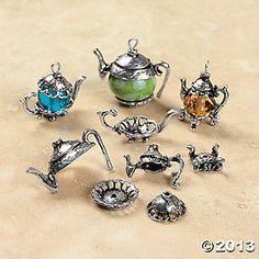 Silvertone Metal Teapot Bead Caps - Oriental Trading