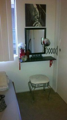 Homemade vanity