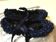 Ladies Shoes/Ballerina Flat/Flats/Blue by enPointeAnthology
