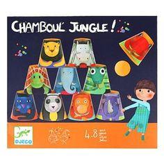 Chamboule jungle - Un jeu de chamboule-tout avec les animaux rigolos qui plait toujours aux enfants  - 4,97 €