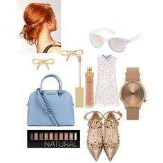 Untitled #268 by sarahepburn28 on Polyvore featuring polyvore fashion style Valentino Michael Kors Topshop Kate Spade Charlotte Russe AERIN Forever 21