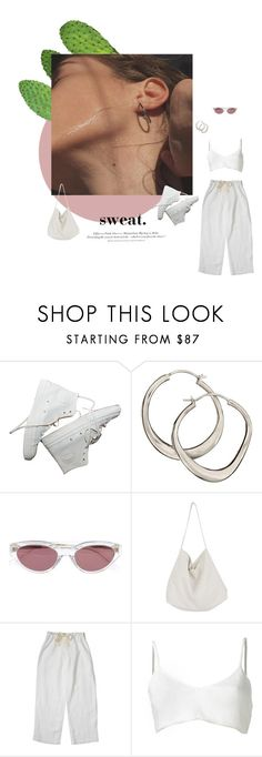 """""""sweat"""" by ffeathered ❤ liked on Polyvore featuring Dinny Hall, RetroSuperFuture, Cabbages & Roses, Area Di Barbara Bologna and H&M"""