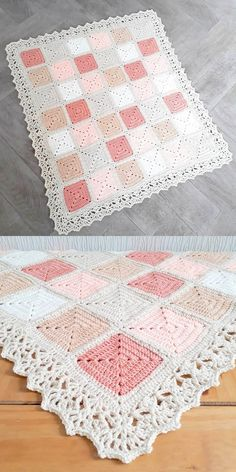 Free Patterns: Amazing Diy Crochet Ideas,Free Patterns: Amazing Diy Crochet Ideas Check more at fashionz. Produce crochet quilts your self Who doesn't enjoy a blanket where you are abl. Granny Square Crochet Pattern, Crochet Squares, Crochet Blanket Patterns, Crochet Stitches, Knitting Patterns, Crochet Blankets, Easy Granny Square, Granny Squares, Baby Blankets