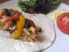 Crockpot Chicken Fajitas - A Healthy Fix and Forget It Recipe