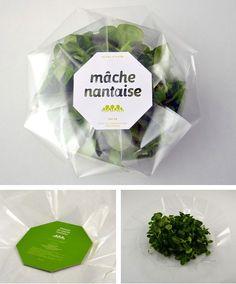package design, salad, design