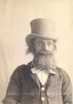 Fantastic old Photograph, thanks Steph!  Beard & top hat. Saratoga County Historical Society
