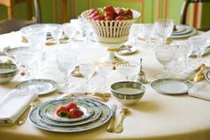 Luxury Table Setting Strawberries Stock Photo (Edit Now) 48572245 Better Homes And Gardens, Best Part Of Me, Wedding Table, Table Settings, Strawberry, Home And Garden, Real Estate, Entertainment Ideas, Entertaining