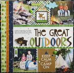 The Great Outdoors #layout by Laura Vegas #scrapbook #BellaBlvd