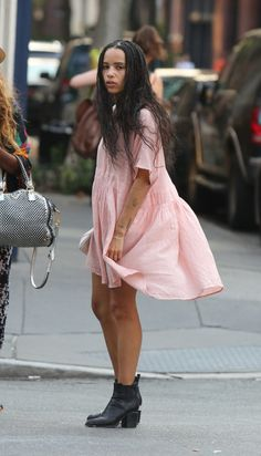 "celebritiesofcolor: "" Zoe Kravitz out in NYC """