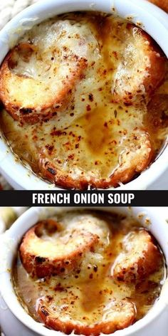 Easy Soup Recipes, Crockpot Recipes, Dinner Recipes, Homemade Soup, Homemade French Onion Soup, French Onion Soups, Homemade Chinese Food, Soup And Sandwich, Sandwiches For Dinner