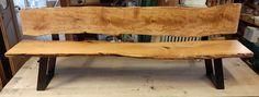 Birnenholzbank aus Steirischem Holz, Gestell vom Steirischem Schlosser Outdoor Furniture, Outdoor Decor, Bench, Home Decor, Old Wood, Pear, Decoration Home, Room Decor, Home Interior Design