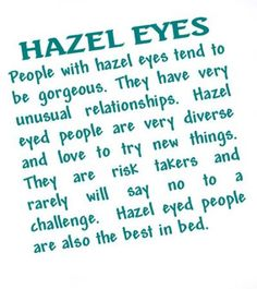 people with hazel eyes meaning