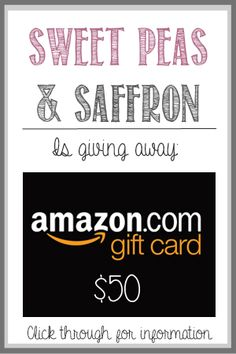 Giveaway from Sweet Peas & Saffrom Amazon Card, Amazon Gifts, Happy Birthday Bella, Gift Card Giveaway, Best Blogs, Cool Gifts, Sweet Peas, Winner Winner, Recipe Today