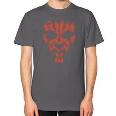 Darth Maul Grunge Unisex T-Shirt (on man)