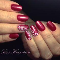 Nail Art Arabesque, Pretty Nail Art, Gel Nail Designs, Beautiful Nail Designs, Flower Nails, Winter Nails, Christmas Nails, Pink Nails, Beauty Nails