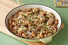 Quinoa Chicken Risotto - I will definitely use chicken breasts instead of thighs and follow the substitute suggestion of 1/2 cup dry white wine for the water, or for 1/2 cup of the chicken broth, if desired.