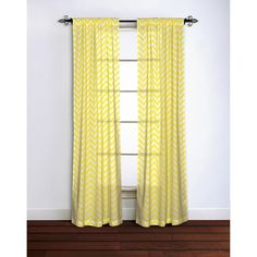 Chevron Curtain Panel 100% Cotton