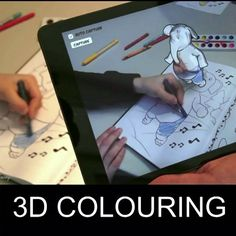 Colouring In 3D Characters That Move