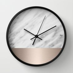 Carrara Italian Marble Holiday White Gold Edition Wall Clock by cafelab - $30.00