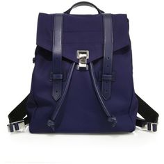 Proenza Schouler Ps1 Nylon Backpack ($1,495) ❤ liked on Polyvore featuring bags, backpacks, indigo, blue drawstring backpack, drawstring backpack bag, proenza schouler, drawstring backpacks and blue backpack