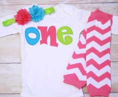 Birthday One Outfit for Girls First Birthday by RightUpYourAli1, $42.00