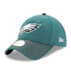 965b7931f Philadelphia Eagles New Era Women s 2017 Sideline Official 9TWENTY  Adjustable Hat - Green