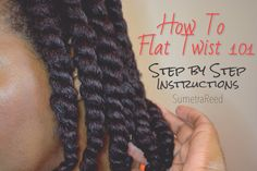 | 62 | How To Flat Twist 101 - Step by Step Natural Hair Tutorials, How To Twist Afro Hair, Natural Hair Twist Styles, Natural Hair Twists, Twist Braids, Natural Hair Care, Curly Hair Styles, Ladies Hairstyles, Natural Hairstyles