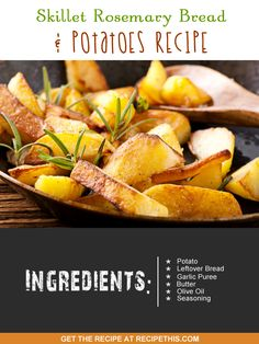 One Pot Cooking | Skillet Rosemary Bread & Potatoes Recipe