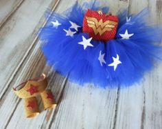 Wonder Woman Tutu Halloween Costume, Baby Costume, Halloween, Super Hero, Baby Costume, Toddler Costume