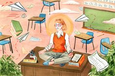 From the archives: An evidence-based program teaches mindfulness to educators. Research suggests it can reduce their stress and improve their teaching. Teaching College Students, Teaching Special Education, Teaching Kindergarten, Art Education, Elementary Teaching, Education Quotes, Religious Education, Mindfulness For Teachers, Mindfulness In Schools
