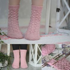 Vanillawool by IINU: ilmaisohjeet Crochet Socks, Knitting Socks, Knit Crochet, Knitting Patterns Free, Free Knitting, Free Pattern, Knitting Ideas, Warm Socks, Leg Warmers