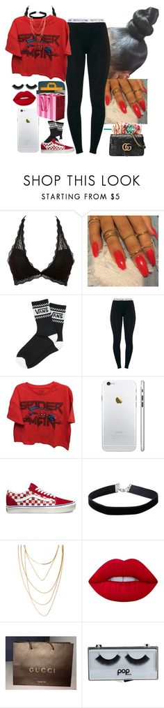 """Untitled #412"" by princessaesthetic ❤ liked on Polyvore featuring Charlotte Russe, Vans, Marvel, Miss Selfridge, Forever 21, Lime Crime, Gucci, POPbeauty and Victoria's Secret"