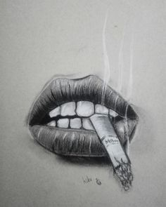 Art Sketches Pencil – Art World 20 Sad Drawings, Girl Drawing Sketches, Dark Art Drawings, Pencil Art Drawings, Drawing Ideas, Smoke Drawing, Mouth Drawing, Vision Art, Art Sketchbook
