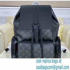 Louis Vuitton Monogram Eclipse Canvas Backpack Trio Bag M45538